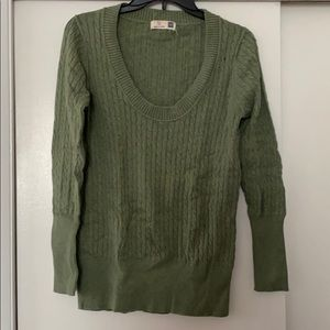 Gap cotton/cashmere green sweater
